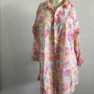LAUREN Ralph Lauren Floral Long Sleeve Blouse XL